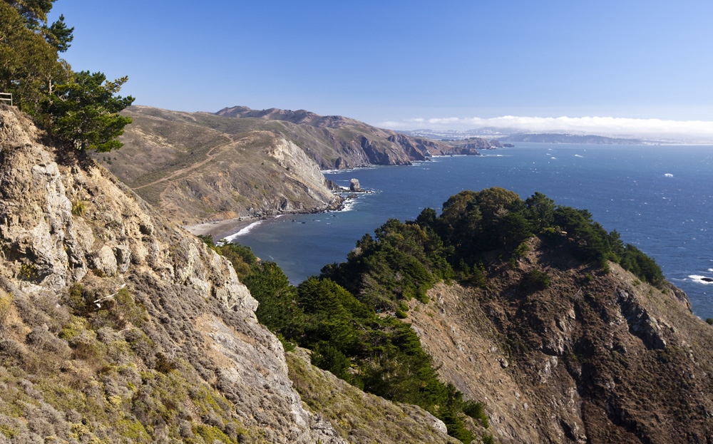 Muir Beach and San Francisco in the distance
