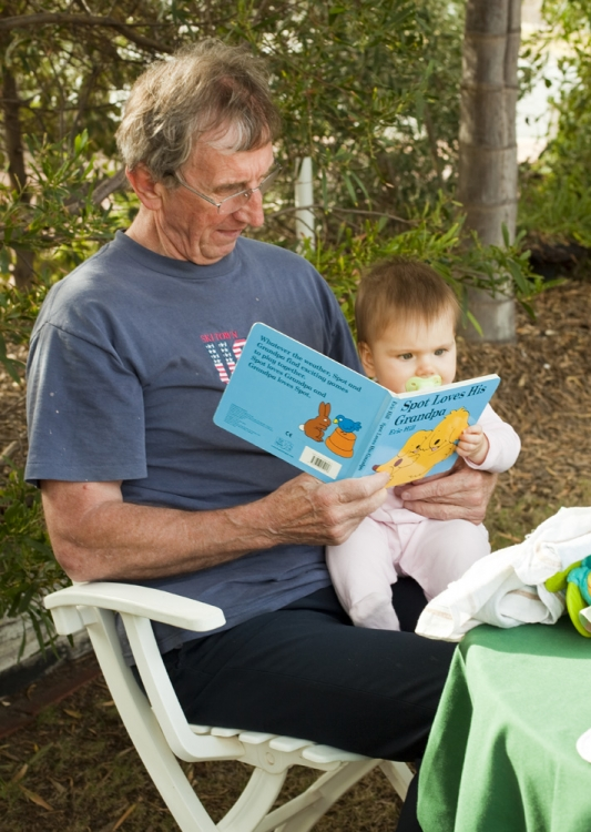 A new book to read with Pops