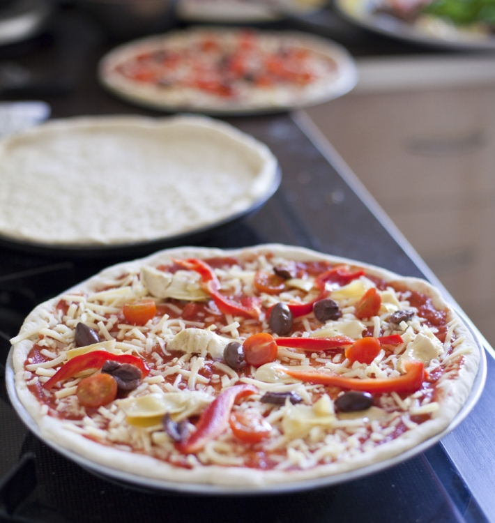 Wood oven pizzas