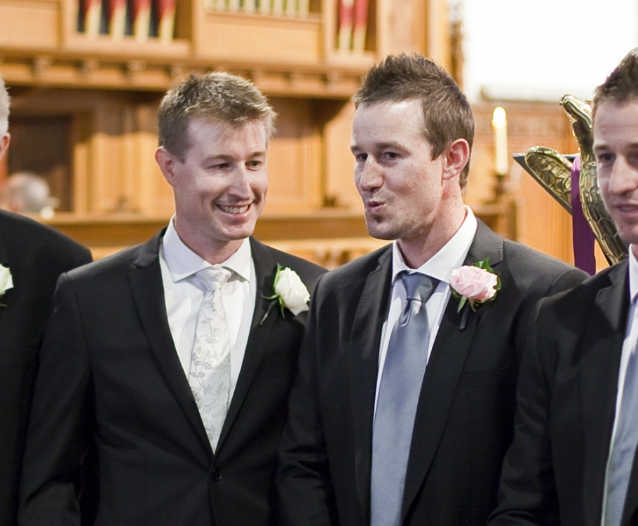 Andy with one of his brothers before the ceremony