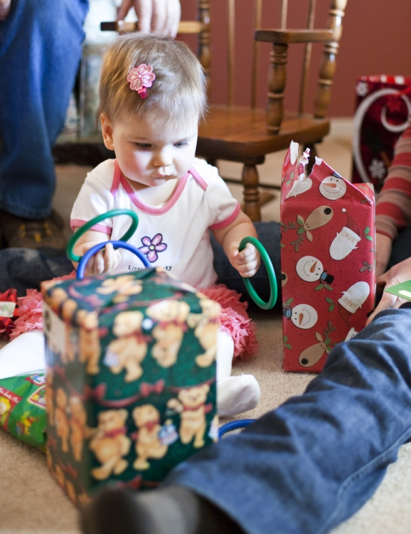 Unwrapping presents in Carson City