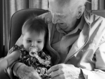 Lilia and Great Grandpa Vic