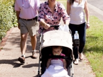 Out for a walk with Granny, Steve, Mum and Dad