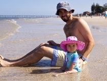 Sam and Lilia at Henley Beach