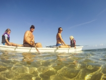The Bakkers out for a paddle