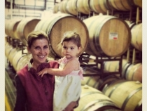 Lilia and Lisa at the winery