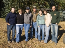 Jeffrey, Andi, Sheila, Mike, Lisa, Michaela and Sam on the ranch