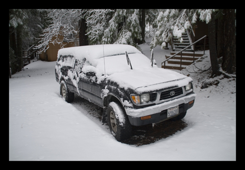 Snowed-In Truck at the Cabin
