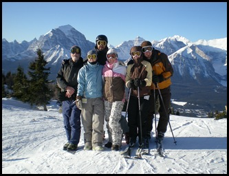 At the top of Lake Louise's Grizzly Express Gondola