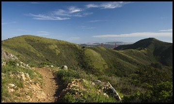 The SCA Trail with the Golden Gate Bridge in the background