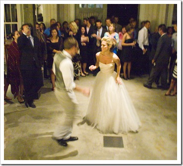 Annie and Kevin dancing up a storm!