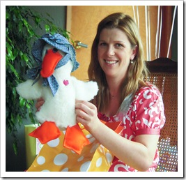 Susie's handmade Mother Goose (she made me one when I was a baby)