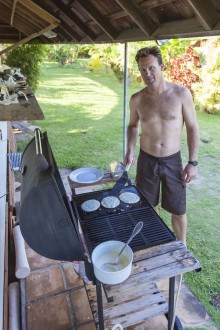 Kevin: master of BBQ breakfasts