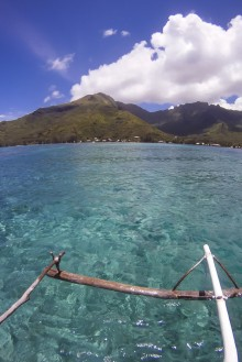 View from the outrigger at one of our diving spots looking back