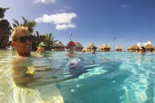 Mark and the rest of the crew at the Moorea Pearl Resort