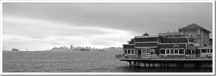 Sausalito with San Francisco in the distance