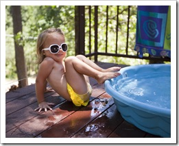 Gianna enjoying the pool