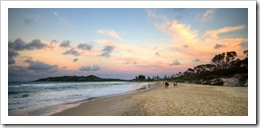 Sunset over Byron Bay