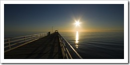 Afternoon sun over the Grange Jetty