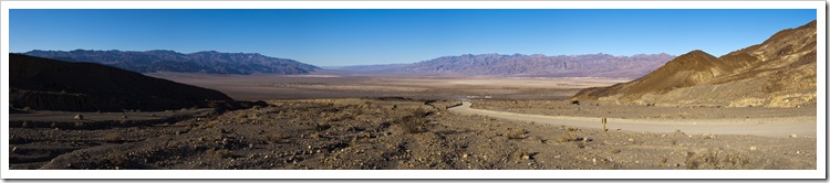 Panoramic of Death Valley from the mouth of Mosaic Canyon