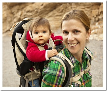 Lilia and Lisa in Mosaic Canyon