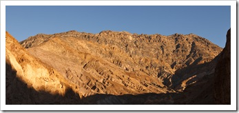 Mountains around Mosaic Canyon in the afternoon sun