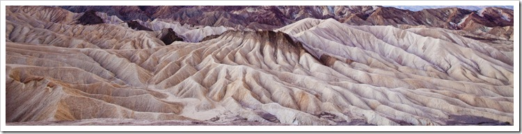 Death Valley ripples before sunrise from Zabriskie Point