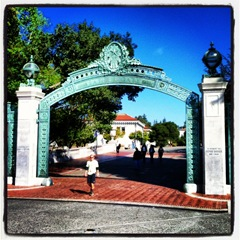 Sather Gate on the south side of UC Berkeley on day two