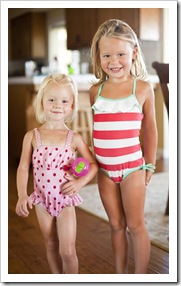 Sophia and Anna Marie ready for the pool