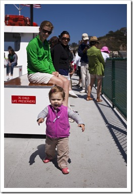 Lilia on the ferry