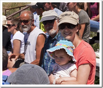 Alan, Greg, Lisa and Lilia at the rodeo in Belt