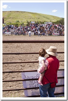 Lilia and Carol enjoying the rodeo in Belt