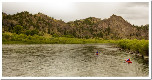 Alan and Lisa kayaking down the Missouri River
