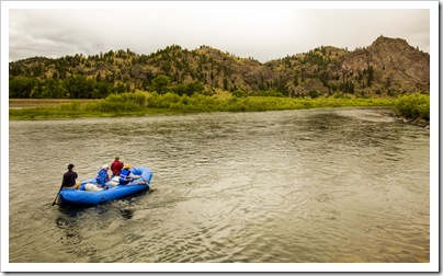 Rafting down the Missouri River