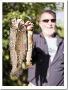Greg with a haul from one of his favorite fishing holes