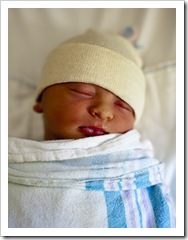 Davis Bordessa at one day old