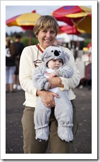 Carol and our little koala