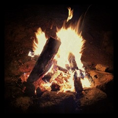 Saturday night campfire