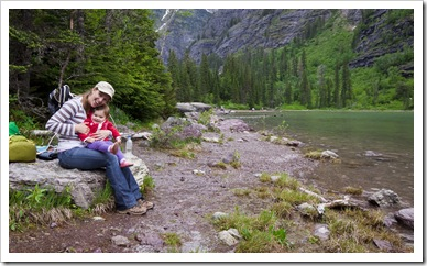 Lunch stop at picturesque Avalanche Lake