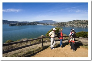Randy, Gail, Lynn and Lisa on Angel Island with Tiburon in the background
