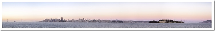 Sweeping panoramic of the San Francisco Bay