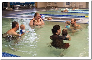 Our first swimming class