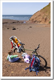 Arriving at Tennessee Valley Beach