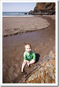 Lilia in enjoying the water at Tennessee Valley Beach