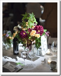 Reception flower arrangements
