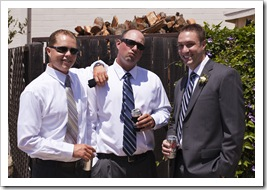 The boys before the ceremony: Jim, Jarrid and Mike
