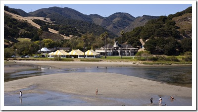 The marquee setup at Avila Beach Golf Resort