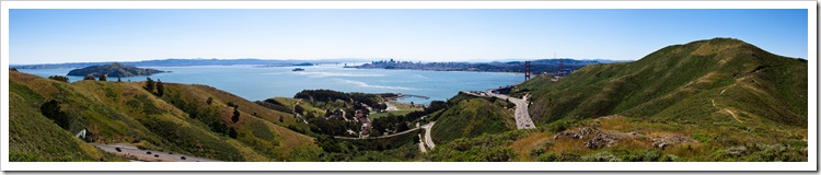 Panoramic of the San Francisco Bay