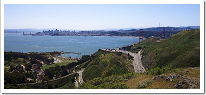 Highway 101, the Golden Gate and San Francisco
