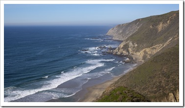 The western side of Point Reyes National Seashore looking north toward Tomales Point